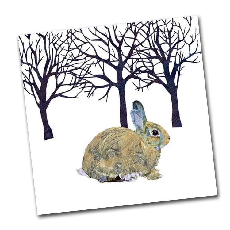 Winter Rabbit Paper Luncheon Napkin