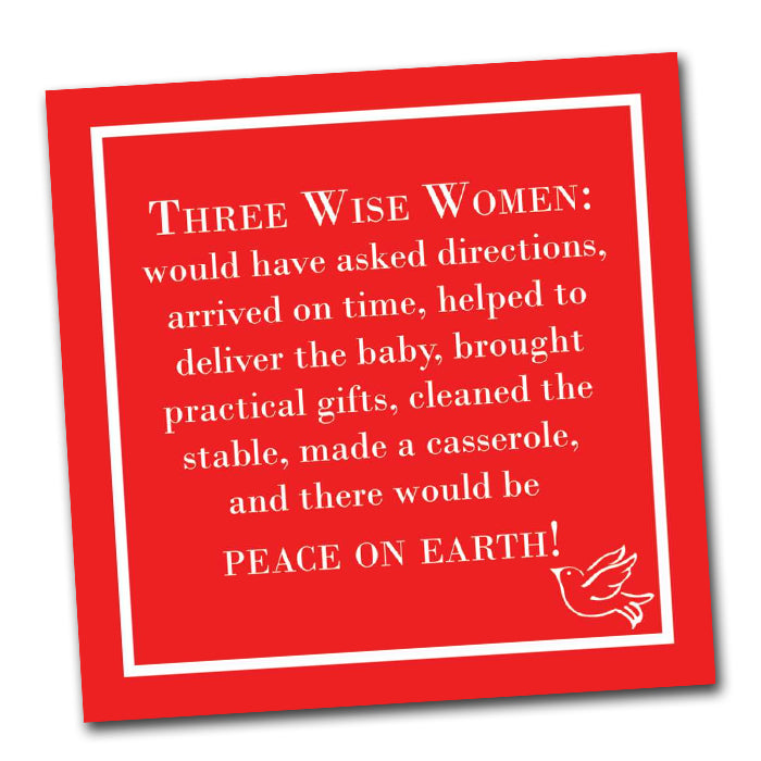 Three Wise Women Funny Christmas Napkins