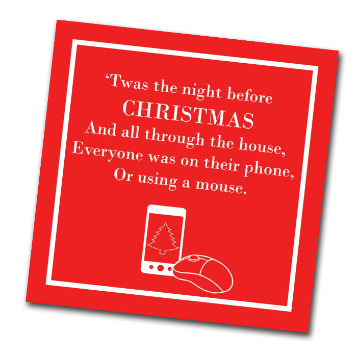 Night Before Christmas Funny Beverage Napkins