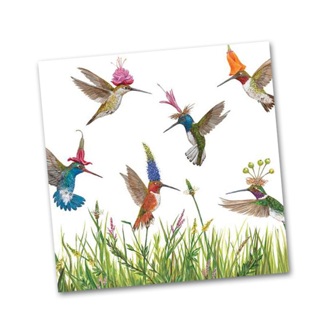 Meadow Buzz Hummingbirds Beverage Napkins