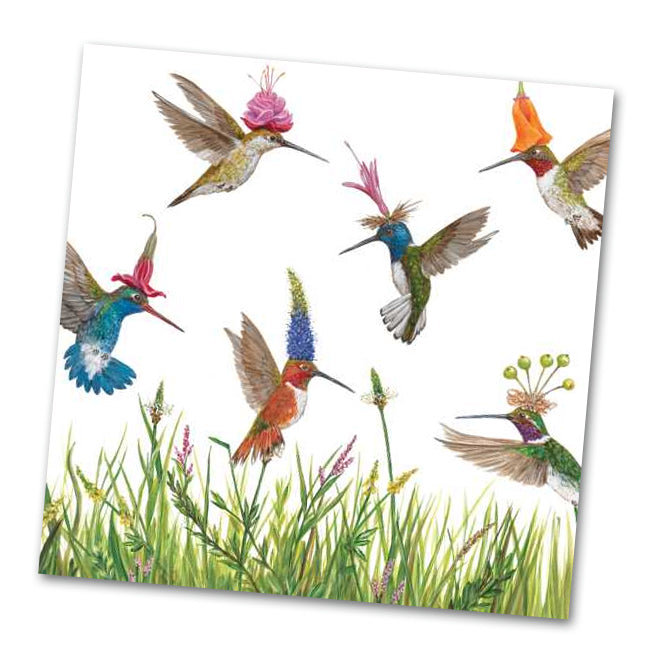Meadow Buzz Hummingbirds Luncheon Napkins