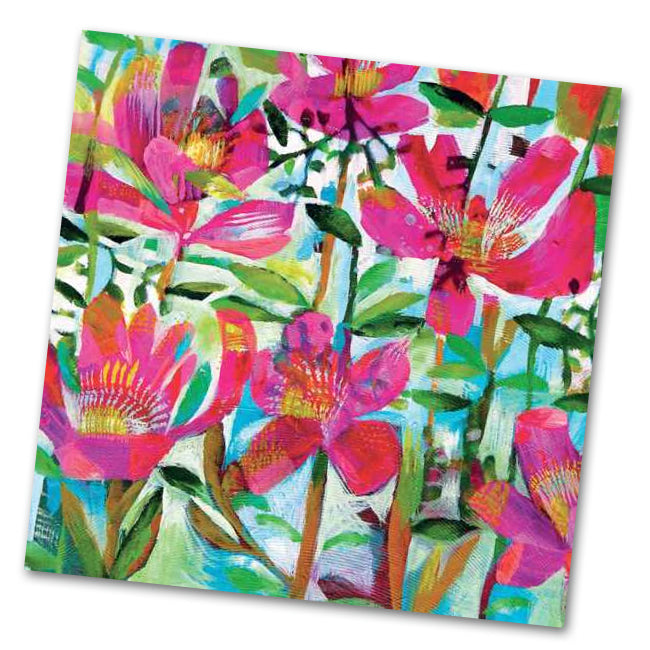 Cali Floral Luncheon Napkins by Este MacLeod
