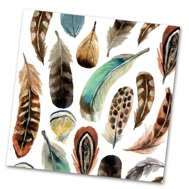 Aquarell Feathers Paper Luncheon Napkins
