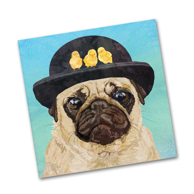 Hudson the Pug Beverage Napkins