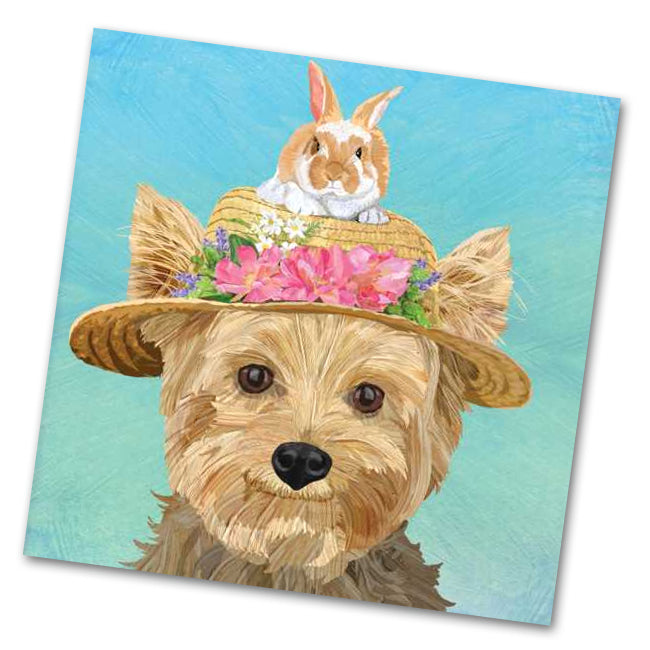 Ella the Yorkie Luncheon Napkins