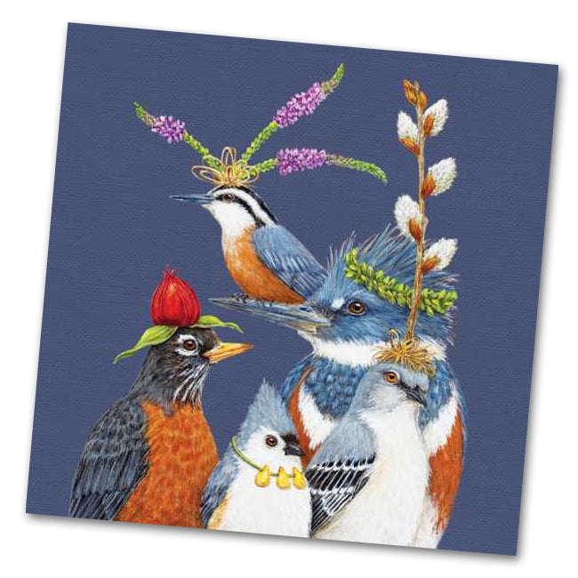 Party Friends Luncheon Napkins by Vicki Sawyer