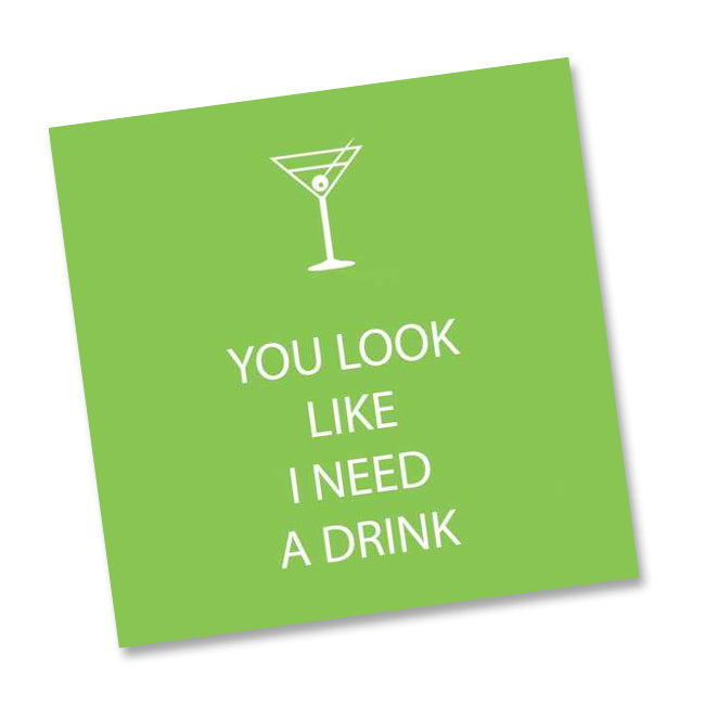 You Look Funny Cocktail Napkins