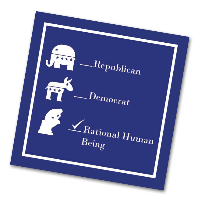 Rational Human Being Funny Political Cocktail Napkins