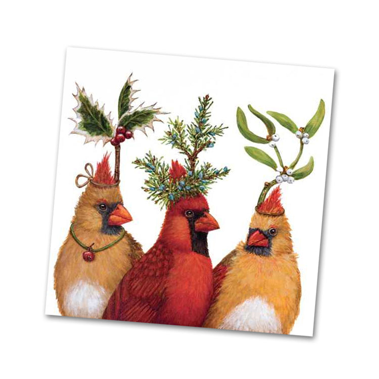 Holiday Party by Vicki Sawyer Beverage Napkins