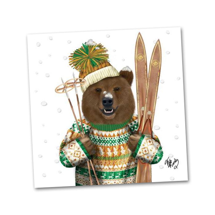 Jean-Claude The Alpine Bear Beverage Napkins