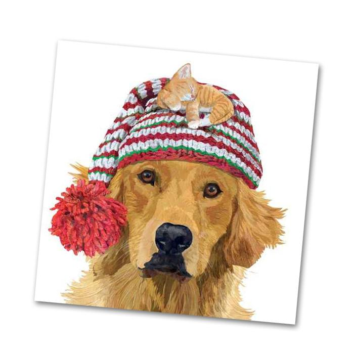 Gunther Golden Retriever Beverage Napkins