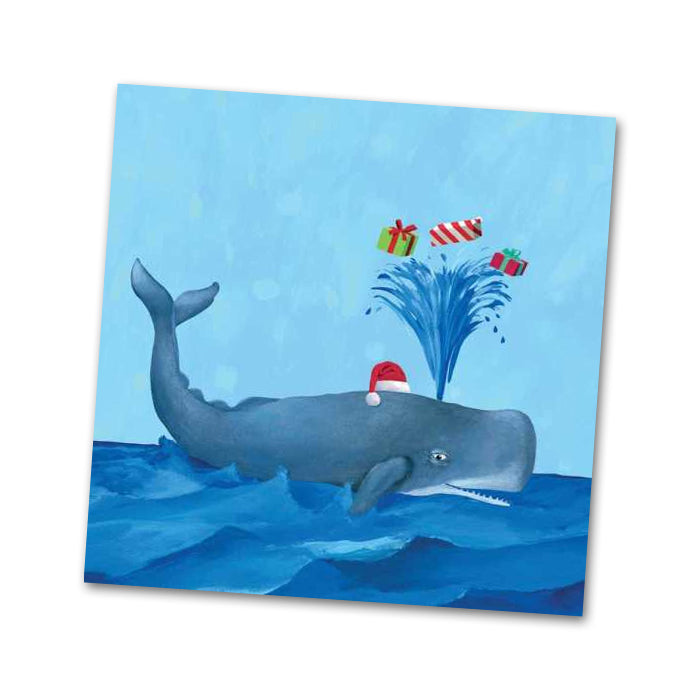 Wilson the Whale Christmas Beverage Napkins