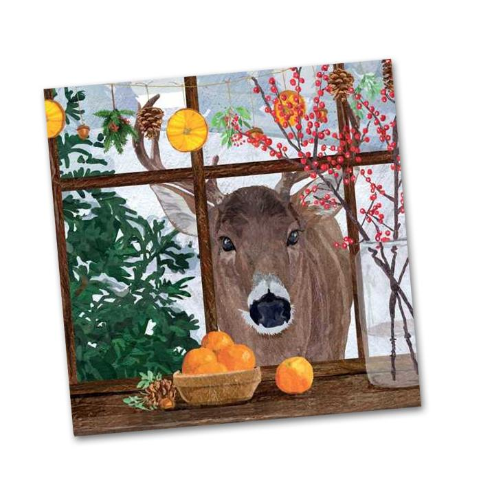 Hearth Time Deer Beverage Napkins