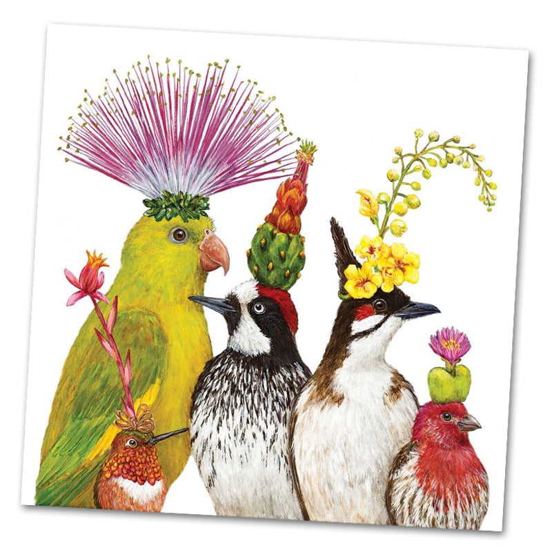 The Entourage by Vickie Sawyer Luncheon Napkins