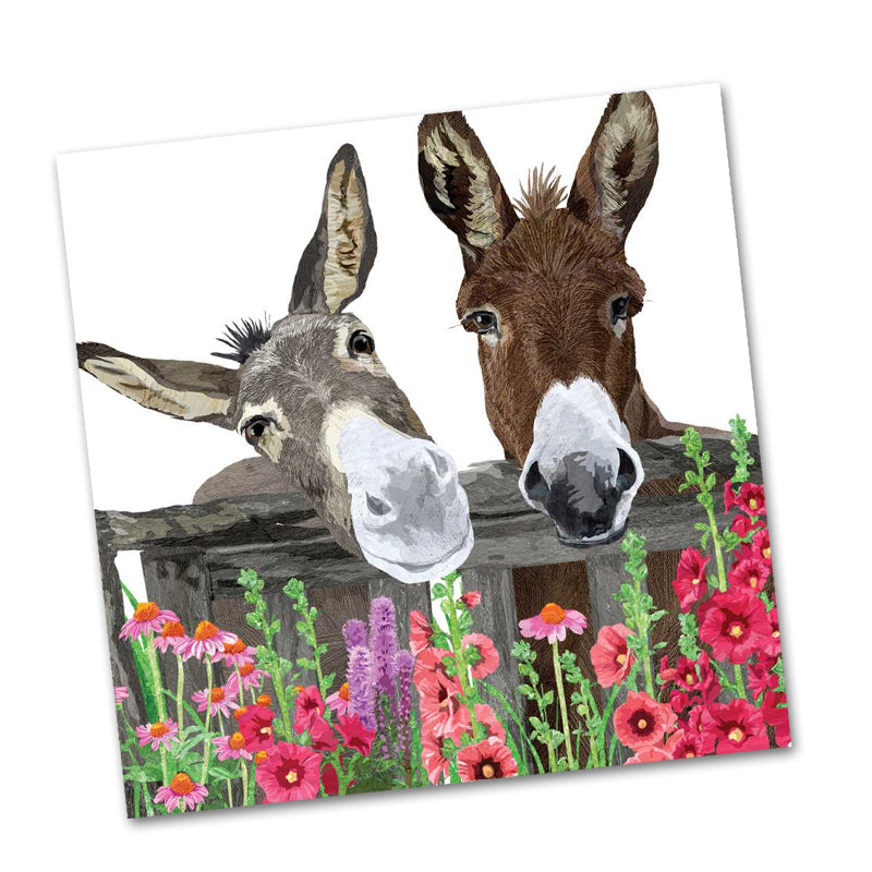 Peanut Butter and Jelly Donkey Beverage Napkins