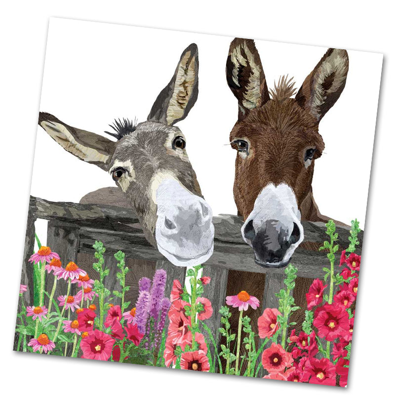 Peanut Butter and Jelly Donkey Luncheon Napkins