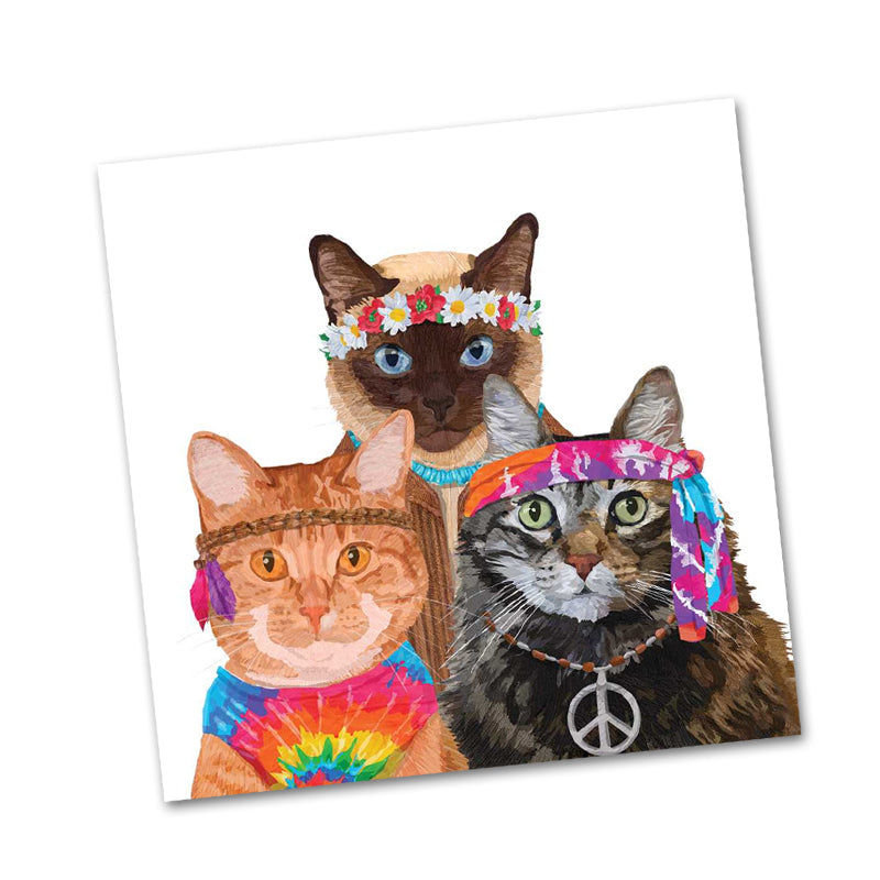 Groovy Cats Paper Beverage Napkins