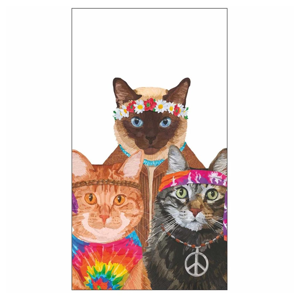 Groovy Cats Paper Guest Towels