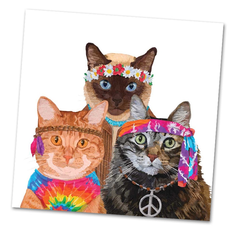 Groovy Cats Paper Luncheon Napkins