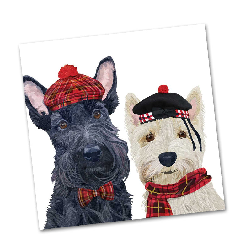 Angus and Fiona Dog Beverage Napkins