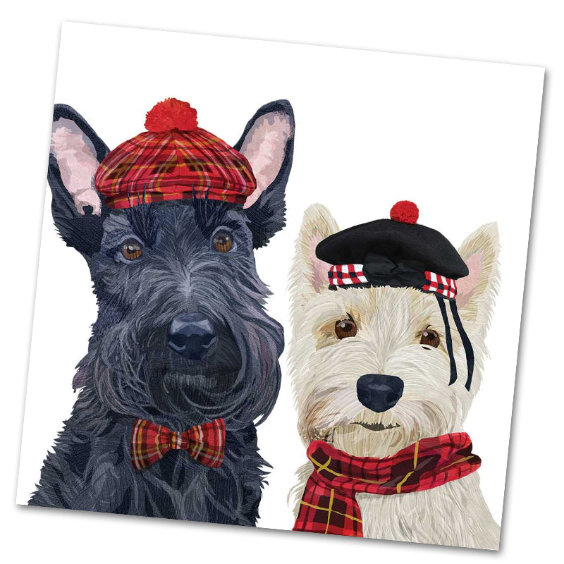 Angus and Fiona Dog Luncheon Napkins