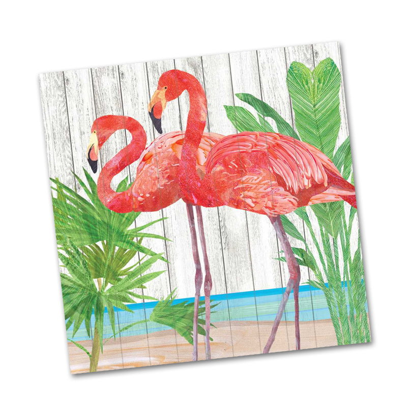 Mika and Joe Flamingo Beverage Napkins