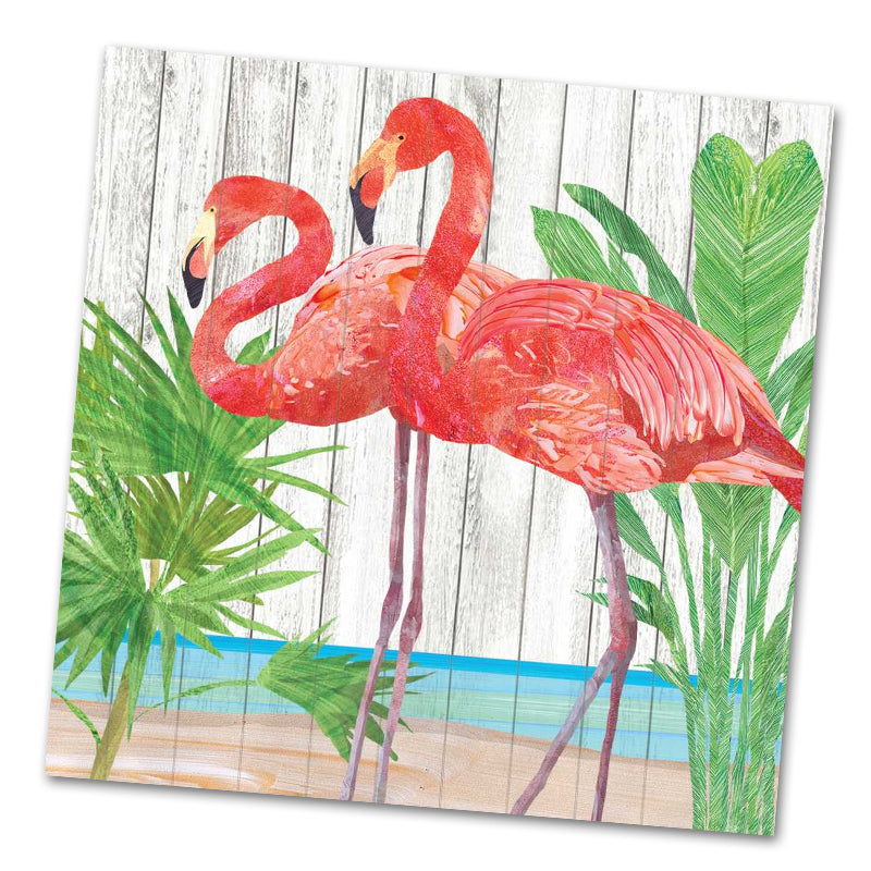 Mika and Joe Flamingo Luncheon Napkins