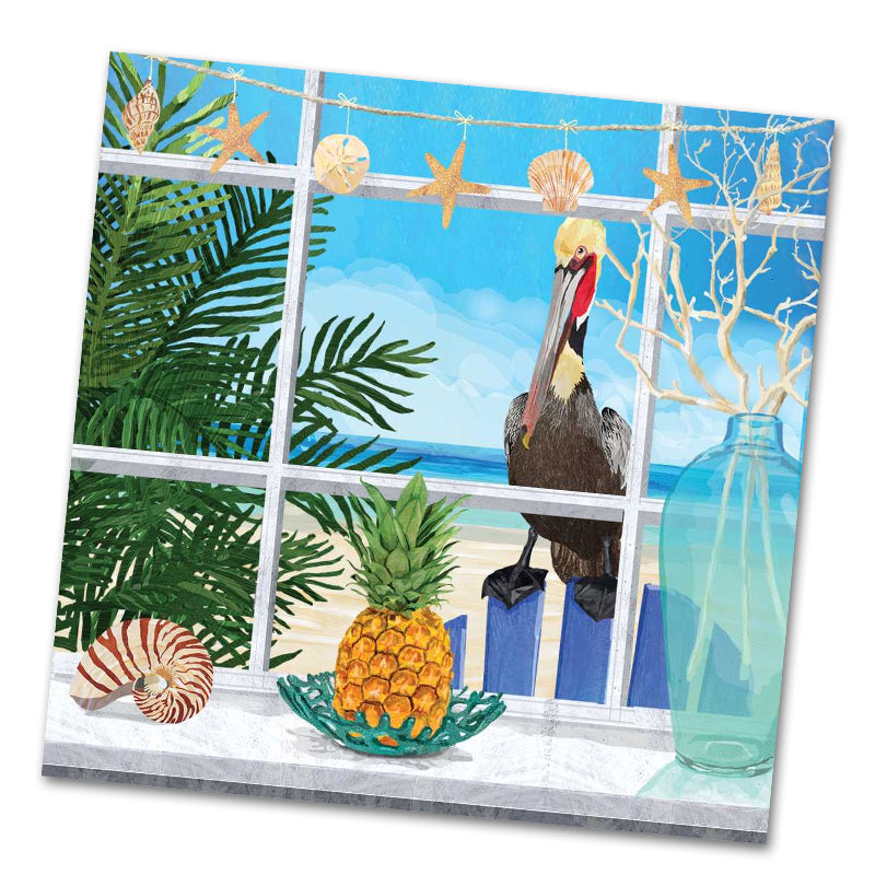 Oceanview Pelican Luncheon Napkins