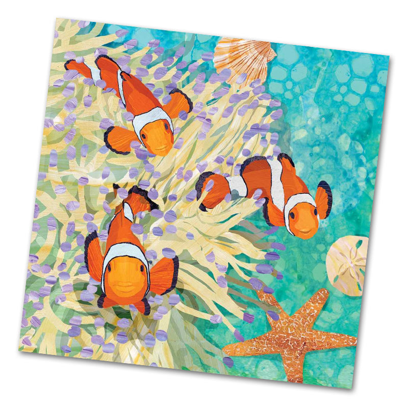 Ellen and Friends Clownfish Luncheon Napkins