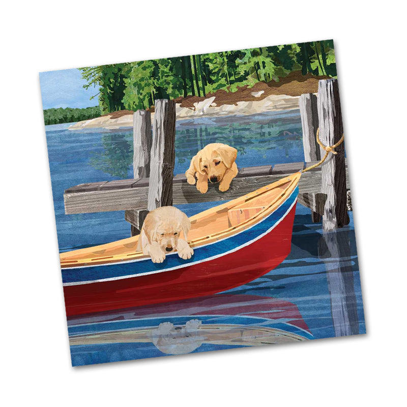 Lakeside Puppies Beverage Napkins