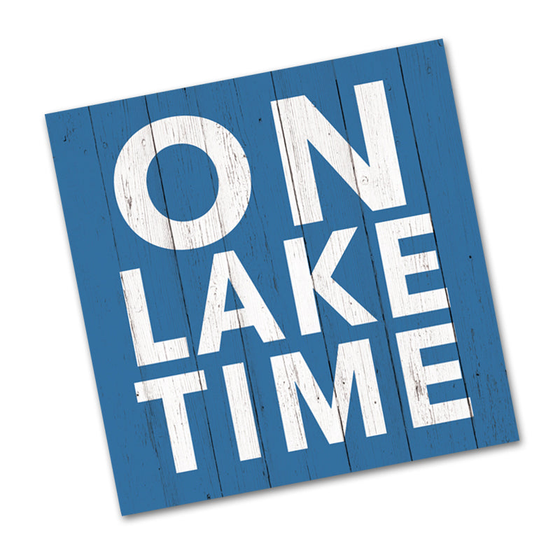 On Lake Time Beverage Napkins