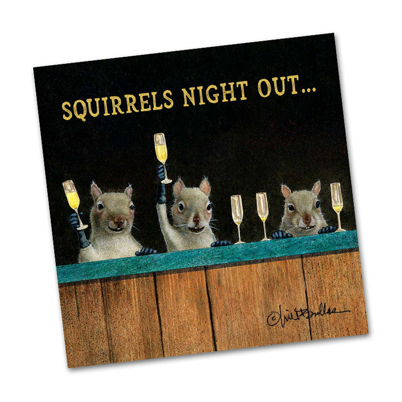 Squirrel's Night Funny Cocktail Napkins