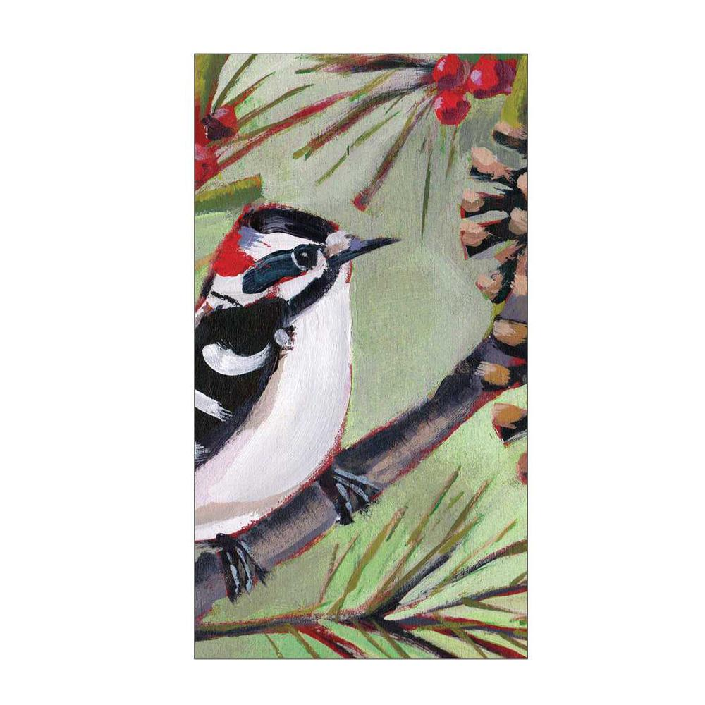 Winter Bird Musee Paper Guest Towels - Buffet Napkins