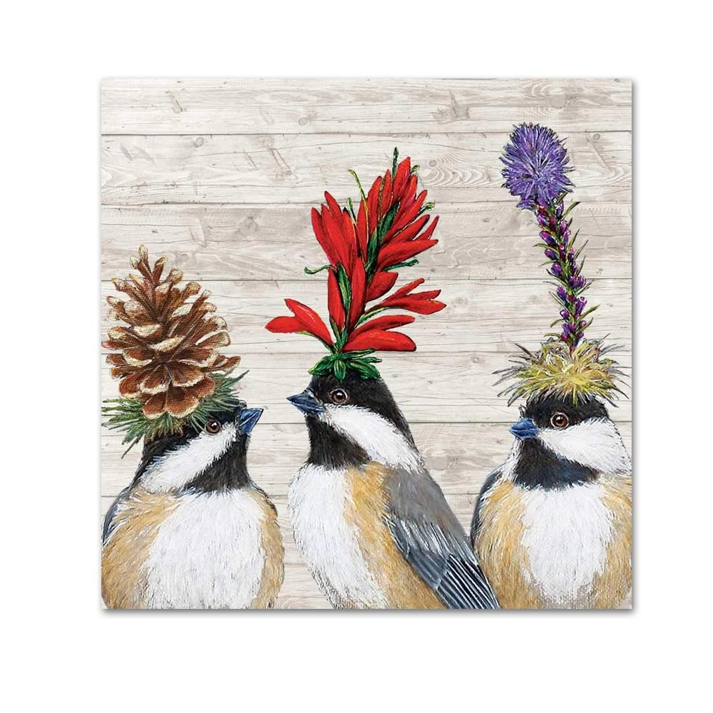 Chickadee Sisters by Vicki Saywer Beverage Napkins