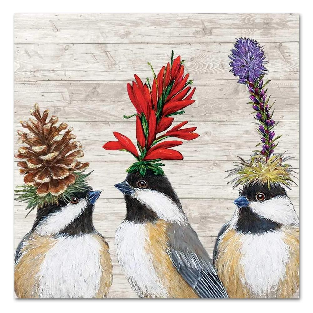 Chickadee Sisters by Vicki Saywer Luncheon Napkins