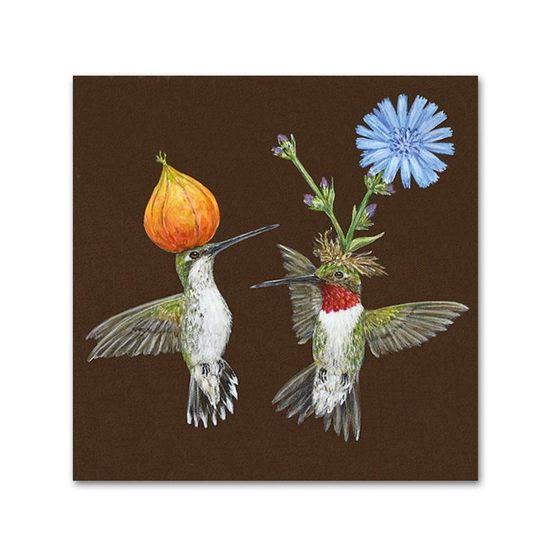 Doug & Cheryl Hummingbird Napkins - Beverage
