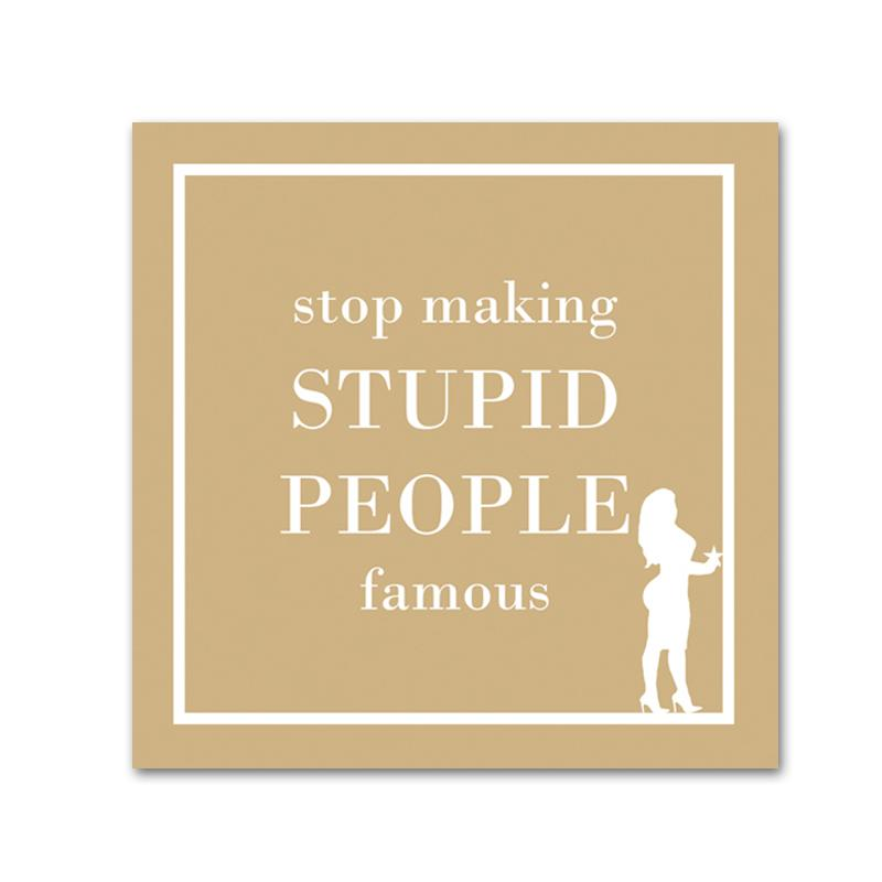 Stupid People - Funny Cocktail Napkins