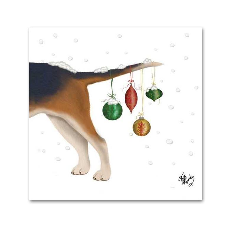 Byron and Ornaments Dog Paper Napkins - Beverage