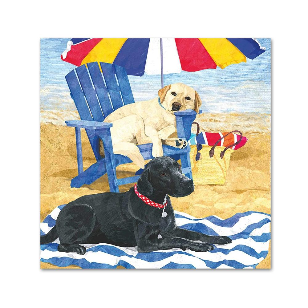 Dog Days of Summer Labrador Beverage Napkins