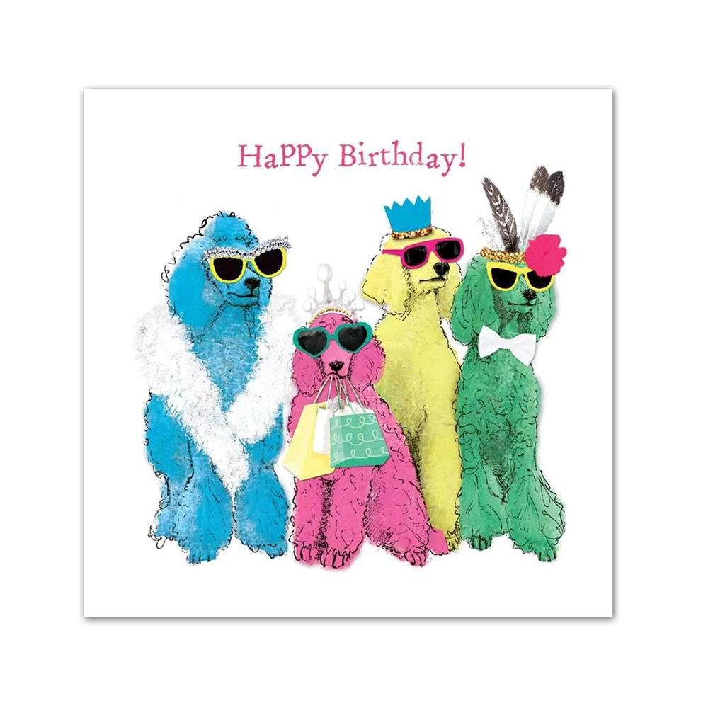 Poodlemania Happy Birthday Beverage Napkins