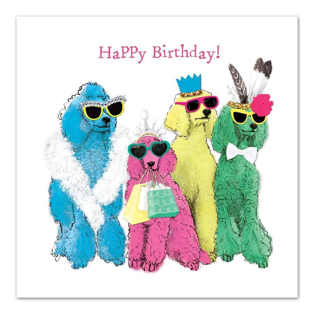 Poodlemania Happy Birthday Luncheon Napkins