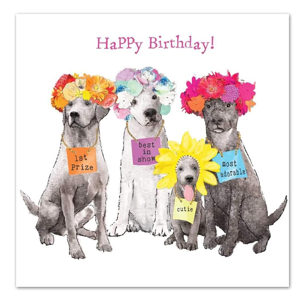 Best in Show Happy Birthday Luncheon Napkins
