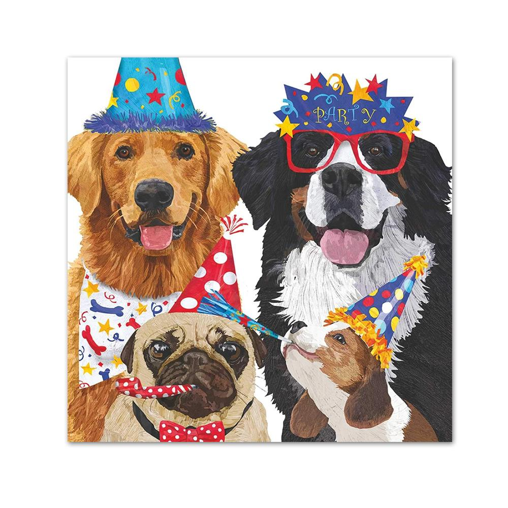 Party Pooches Beverage Napkins