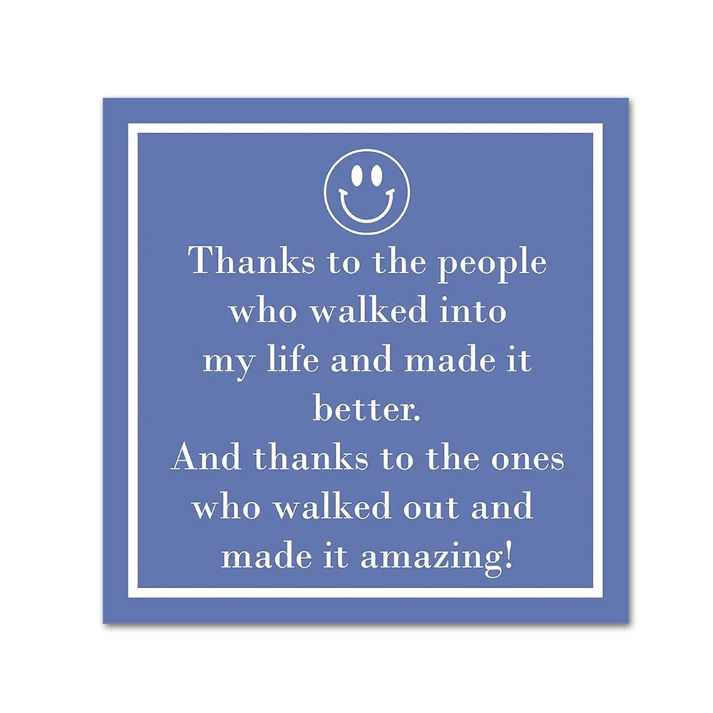 Thanks to the People Funny Cocktail Napkins