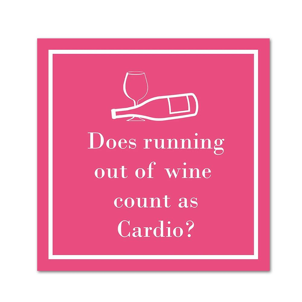 Cardio Funnny Cocktail Napkins