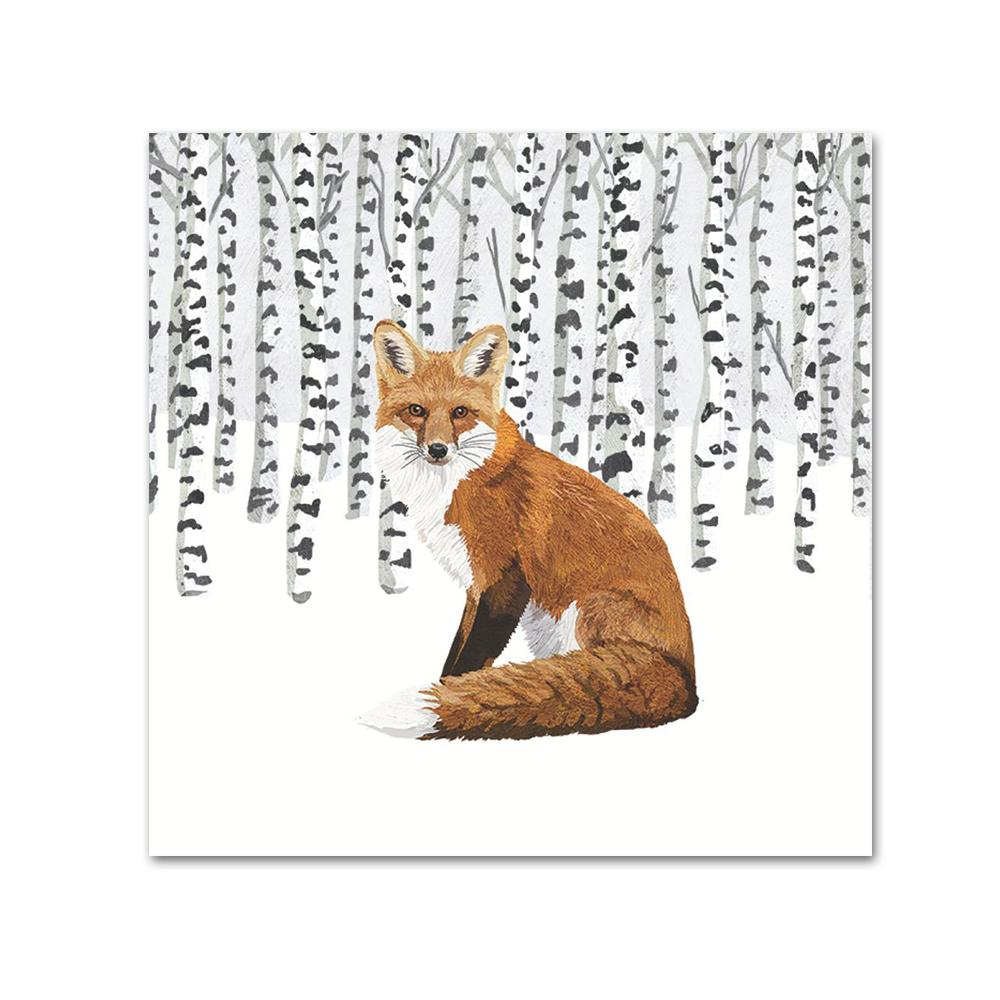 Wilderness Fox Paper Beverage Napkins