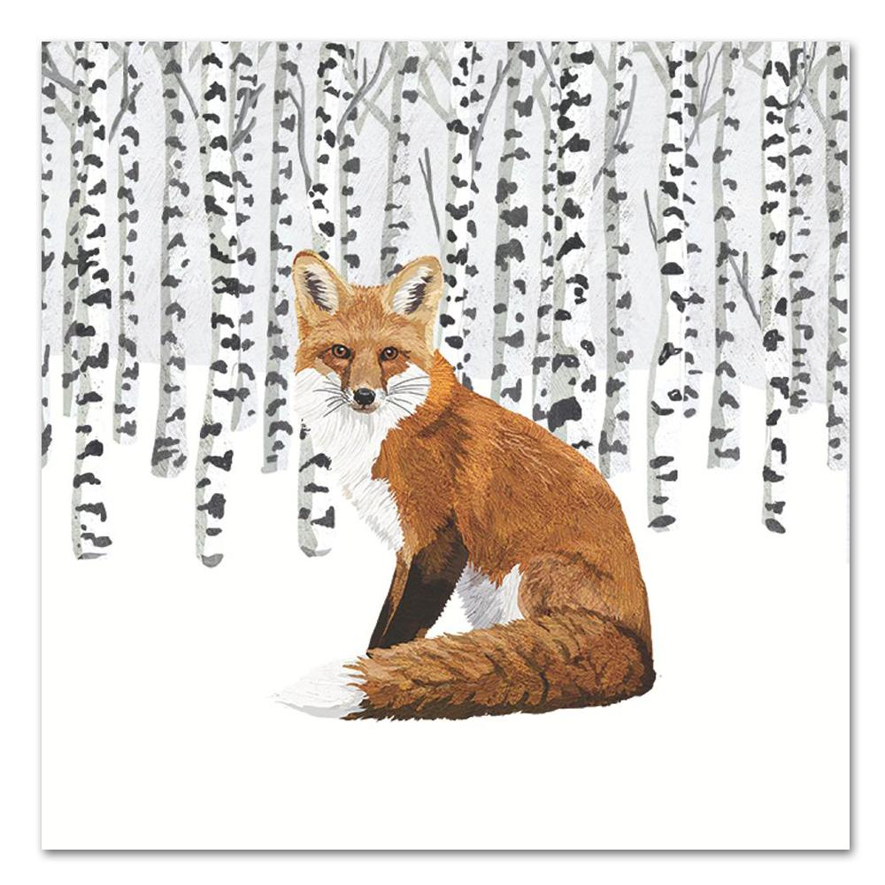 Wilderness Fox Paper Luncheon Napkins