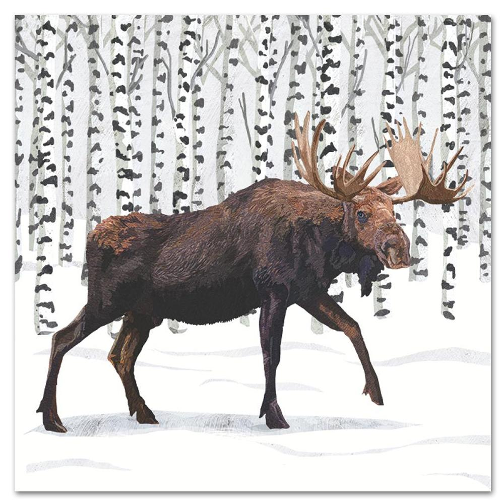 Wilderness Moose Paper Luncheon Napkins