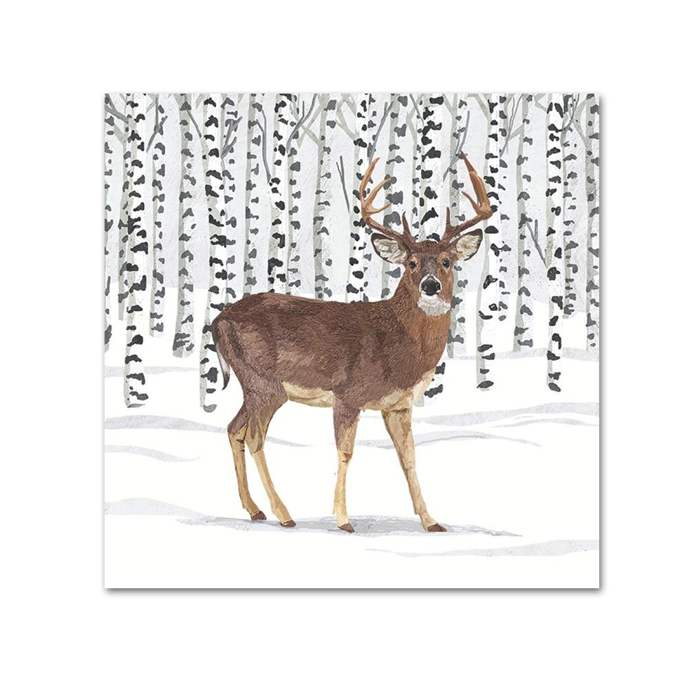 Wilderness Stag Paper Beverage Napkins