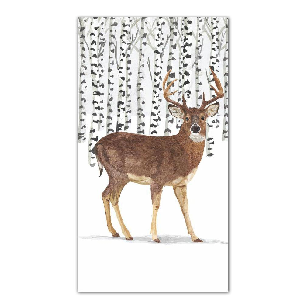 Wilderness Stag Paper Guest Towels - Buffet Napkins